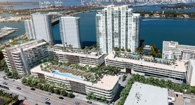 44-story condo tower by Crescent Heights – South Beach