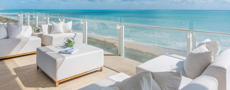 Amazing Outdoor Spaces: Large Oversized Balcony - The Surf Club 4 Seasons