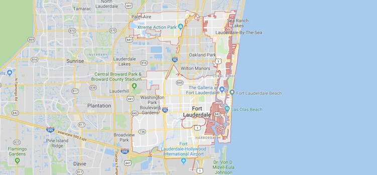 map of fort lauderdale neighborhoods - maps for you