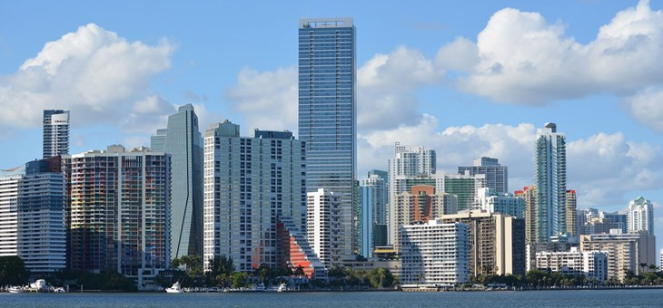 Brickell from Key Biscayne