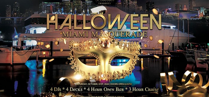 Halloween Saturday Night Party Cruise – Masquerade Costume Party: October 31