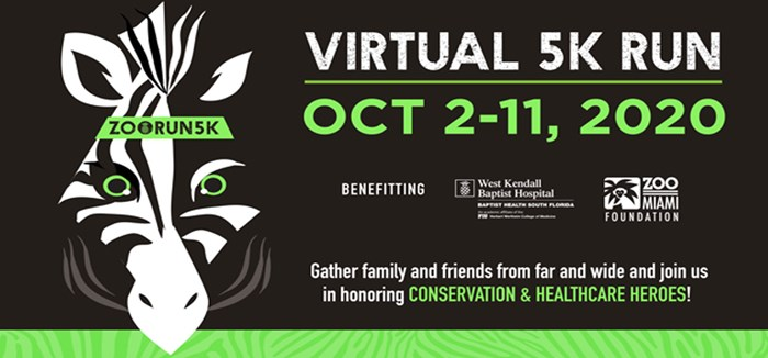 Zoo Miami Virtual 5K Run: October 2-11